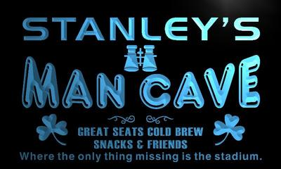 x0107-tm Stanleys Man Cave Skybox Custom Personalized Name Neon Sign Wholesale Dropshipping On/Off Switch 7 Colors DHL