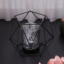 3D Geometric Metal Candle Holder, Wedding Home Decor
