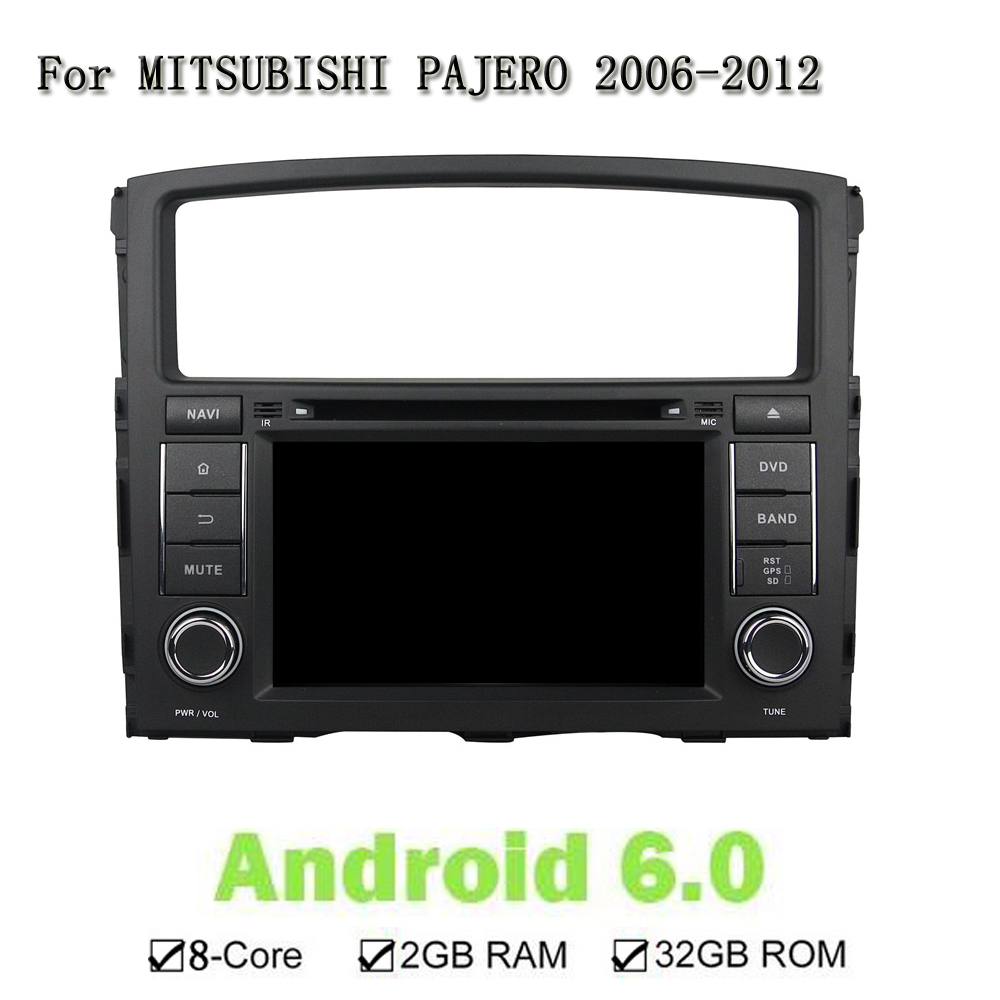1024*600 Android 6.0.1 8-Core Car DVD Radio Player For Mitsubishi PAJERO 2006-2012 GPS Stereo Head Unit Support Mirror Link DVR