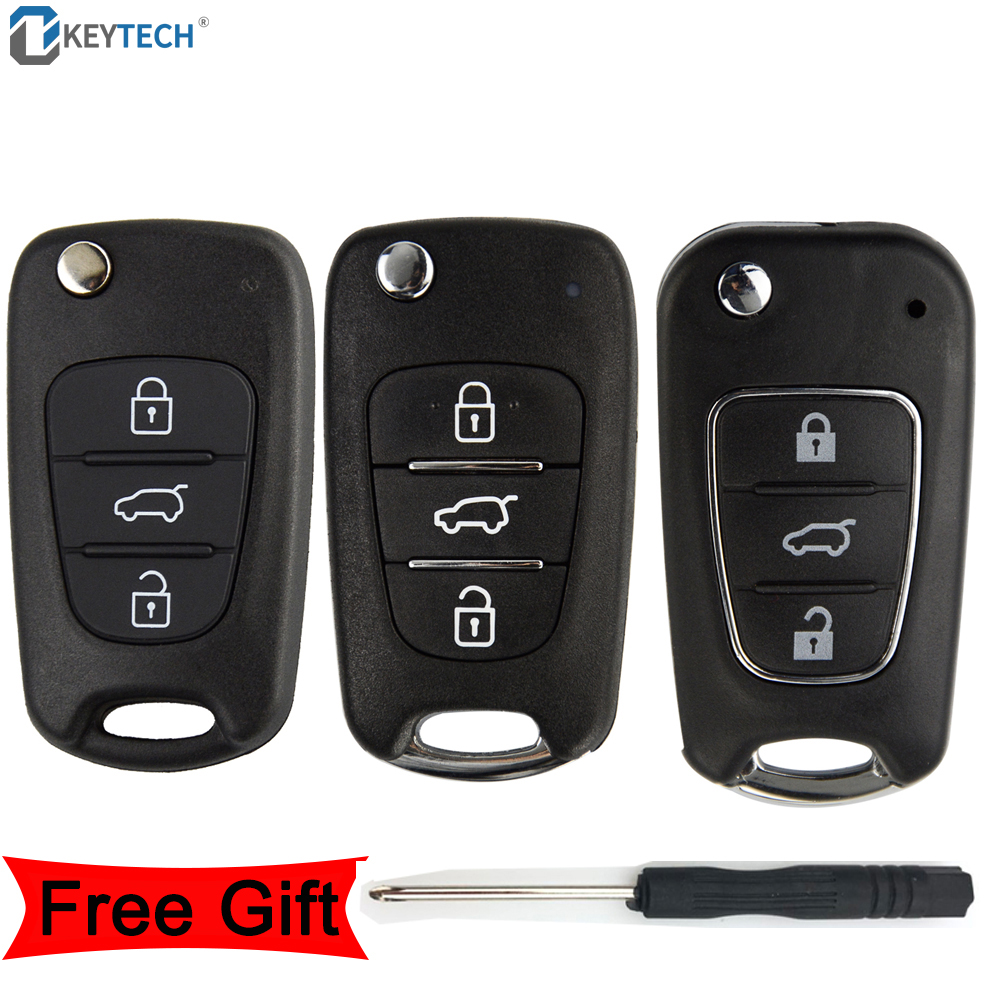 Hyundai Remote Key Fob Flip 3 Button Empty Case Only Blade i10 i20 ...