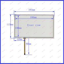 8 pulgadas 193*115 DVD de navegación del vehículo universal de la pantalla de escritura a mano pantalla táctil resistiva de cuatro hilos