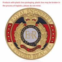 Royal Engineers Sword Beach Gold Plated Commemorative Challenge Coins Souvenir