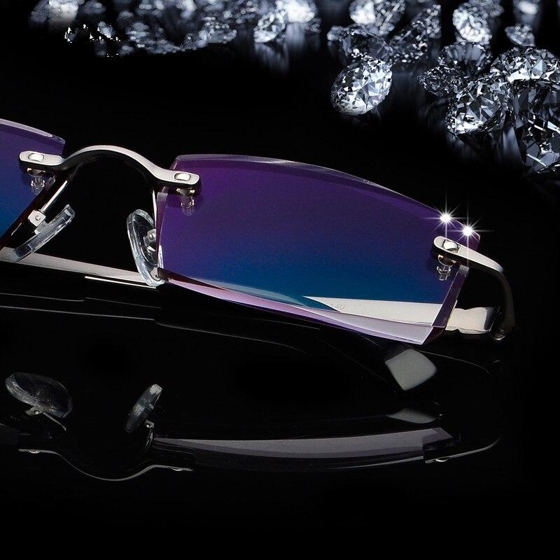 4a057d3df84f7 Nenhum óculos de armação, óculos dos homens super leve, do sexo masculino, titanium  óculos de metal puro, prescrição personalizada escada cor Dos Óculos De ...
