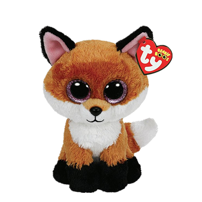Beanie Boos 6-Inch Slick Brown Fox Animal Plush Baby Plush Stuffed Doll Toy Collectible Soft Toys Big Eyes Plush Toys S71