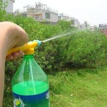 1 шт. Лидер продаж Мини бутылки для сока интерфейс пластиковые тележки пистолет распылитель головка давление воды Садовые принадлежности