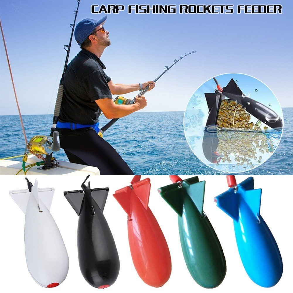 5 Colors Carp Fishing Large Rockets Spod Bomb Fishing Tackle Feeders Float Bait Holder Maker Tackle Tool Accessories Feeders