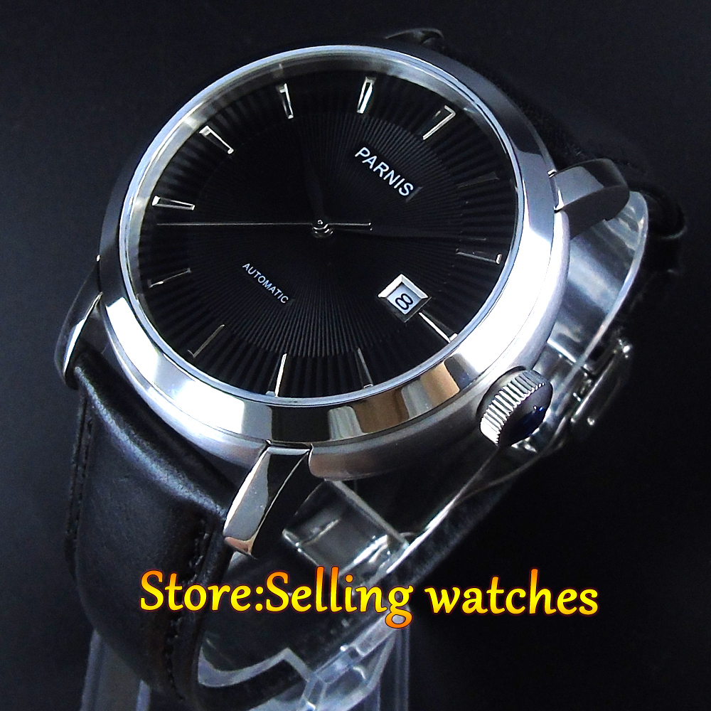 42mm Parnis 21 Jewels Japan miyota Automatic Movement Sapphire crystal Men wrist Watch цена
