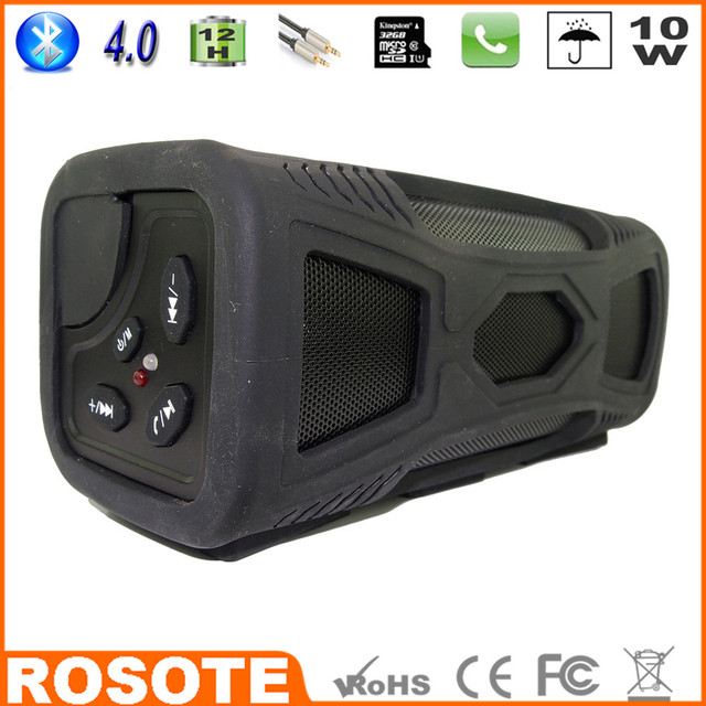 2015 Waterproof Portable Bluetooth 4.0 Hi-Fi Bass 10W bass handsfree for car bluetooth Mini Speaker