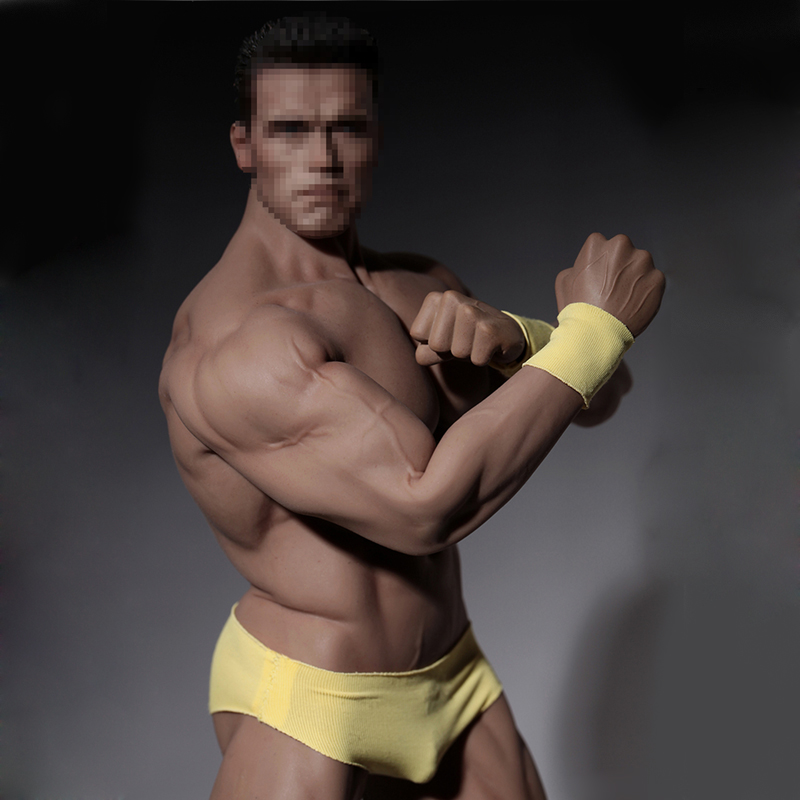 цены Phicen 1/6 Male Super Strong Flexible Seamless Stainless Steel Movable Body Muscular Action Figure Model PL2016-M34 Without Head
