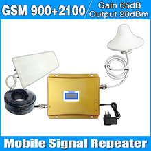 Full set LCD Display GSM 900MHz UMTS 2100MHz 3G WCDMA Dual Band Mobile Phone Signal Booster EDGE/ HSPA Signal Repeater Amplifier