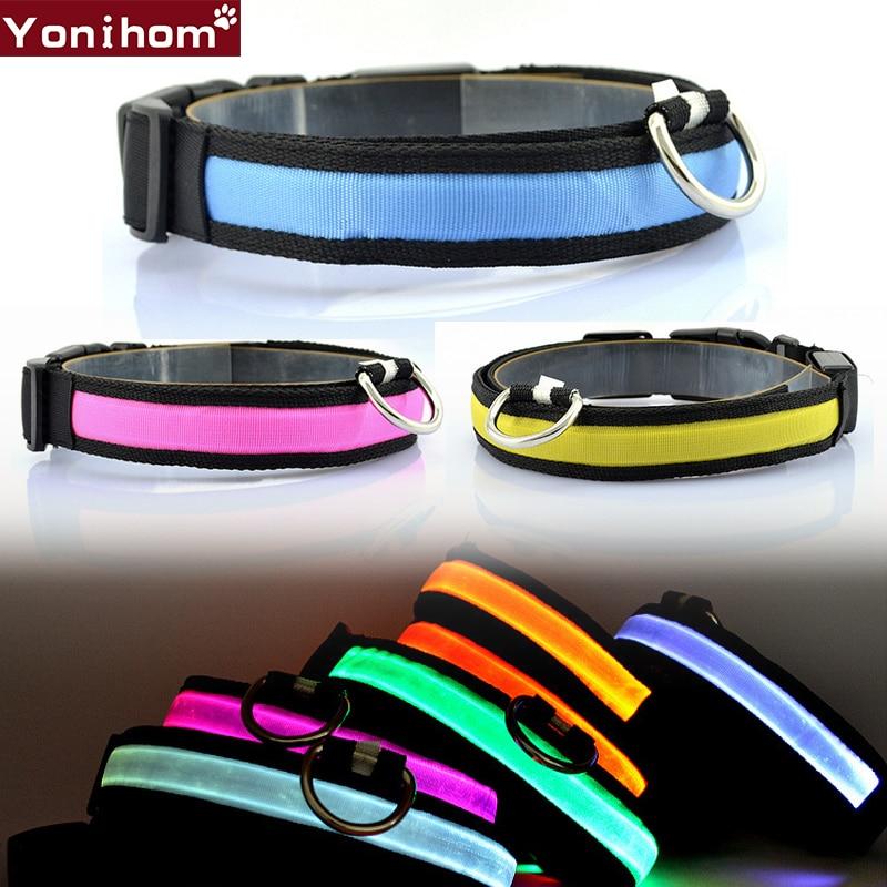 LED Halsband Lichtgevende Nacht Veiligheid Knipperende Gloeiende - Producten voor huisdieren