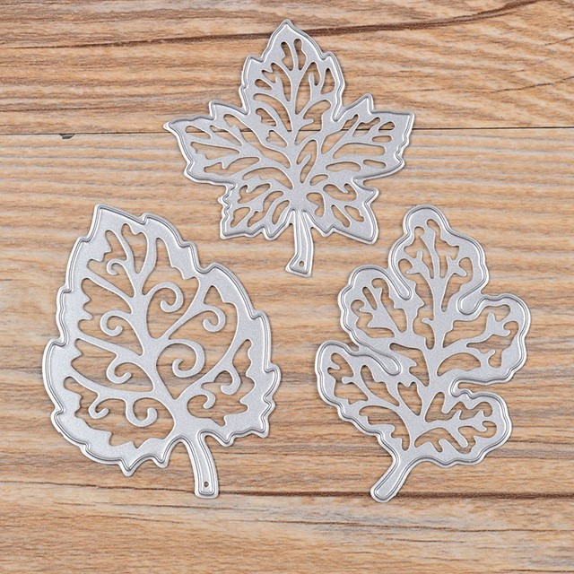3Pcs Pretty Leaves Metal Cutting Dies Stencils for DIY Scrapbooking/photo album Decorative Embossing DIY Paper Cards