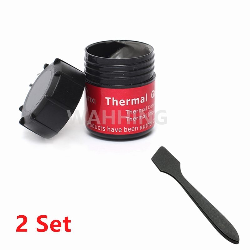 2Set Gray Thermal Grease with Silver CPU Chip Heatsink Paste Conductive Compound Thermal Paste Silicone Heat Sink 20g HY1165*2