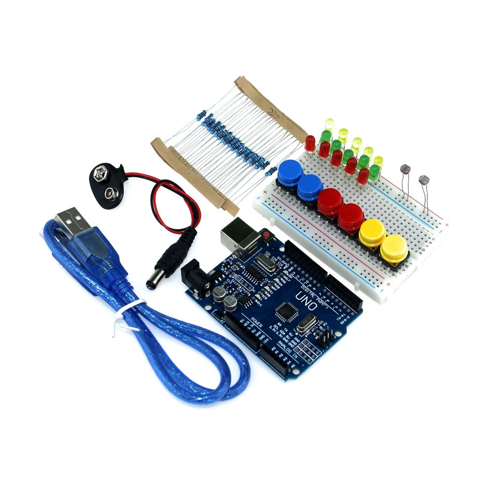 Electronic Components & Supplies Professional Sale 1set New Starter Kit Uno R3 Mini Breadboard Led Jumper Wire Button Active Components