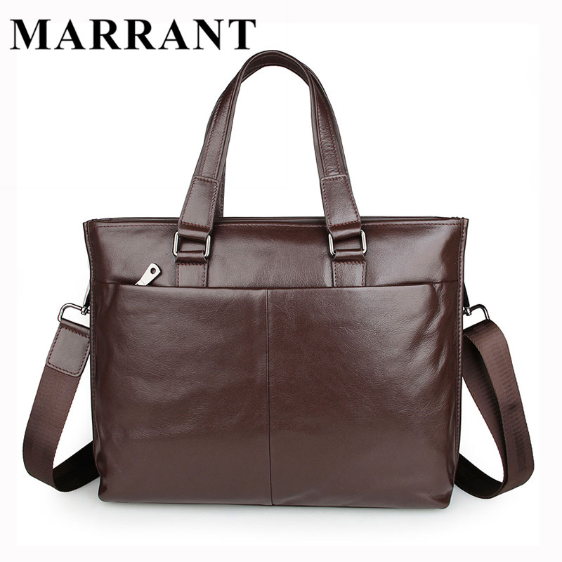 MARRANT Genuine Leather Men Bags High Quality Man Crossbody Shoulder Handbag Men's Briefcase Fashion Business Laptop Bag 7328 добрый pulpy апельсин напиток сокосодержащий с мякотью 0 9 л