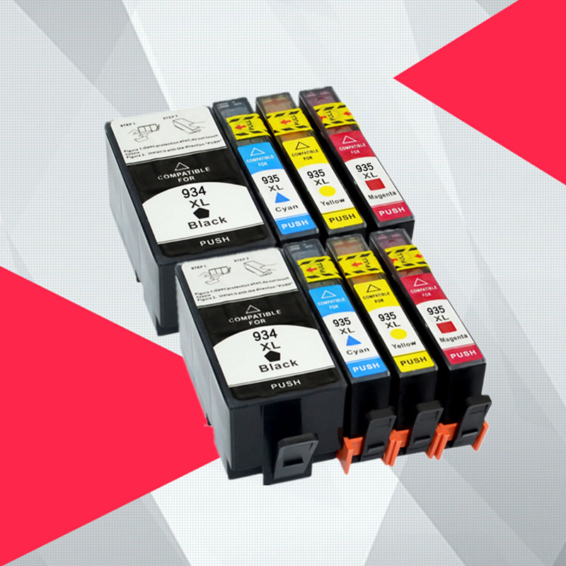 8PK 934XL 935XL with New Chip Ink Cartridge for HP Officejet 6812 Pro 6230 6830