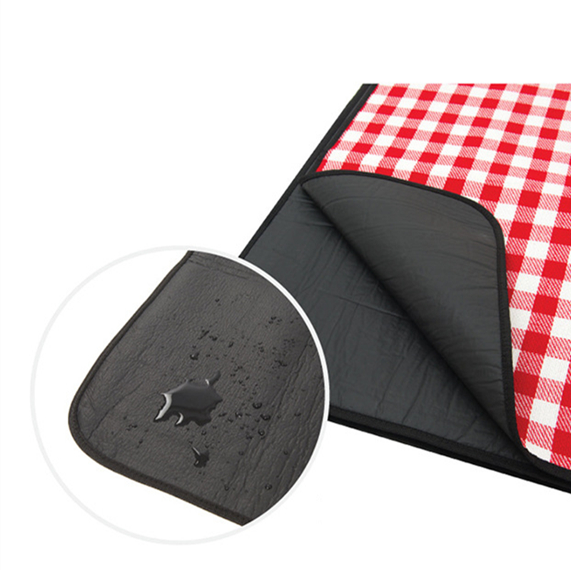 Image 4 - VILEAD 240*200cm Picnic Camping Mat Folding Waterproof Beach Outdoor Pic Nic Travel Tarp Foldable Blanket Ground Dampproof Camp-in Camping Mat from Sports & Entertainment