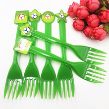 6pc/set Plastic Forks Football Party Decorations Cartoon Soccer Theme Tableware Favors Kids Birthday Baby Shower Supplies