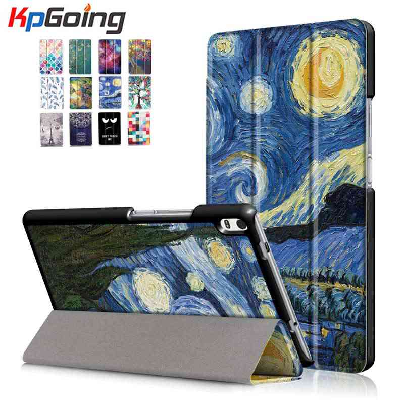 For Lenovo Tab 4 8 Plus TB-8704F/8704N Flip Stand TAB4 8 Plus Art Print PU Leather Cover for Lenovo Tab4 8 plus TB-8704F N new design high quality pu leather sleeve bag case for lenovo tab4 8 plus tb 8704f tb 8704n tablet pouch stand cover