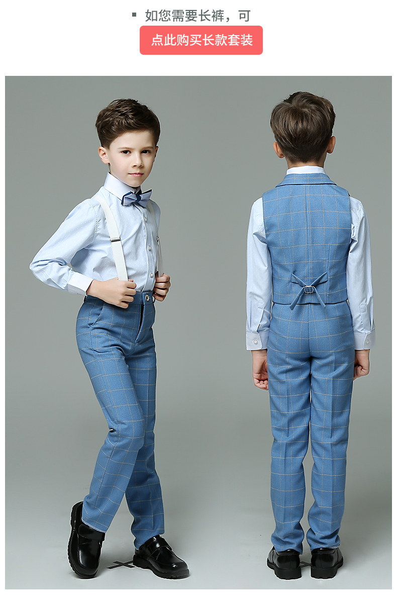 Kids boys wedding suit boys wedding tuxedos Summer boy Suits 3 Piece ...