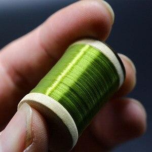 Image 4 - Royal Sissi 15 colori piccolo legno spooled fly legare filo 8/0 altamente cerato 210yds/bobina 75Denir filato ibrido legare filo