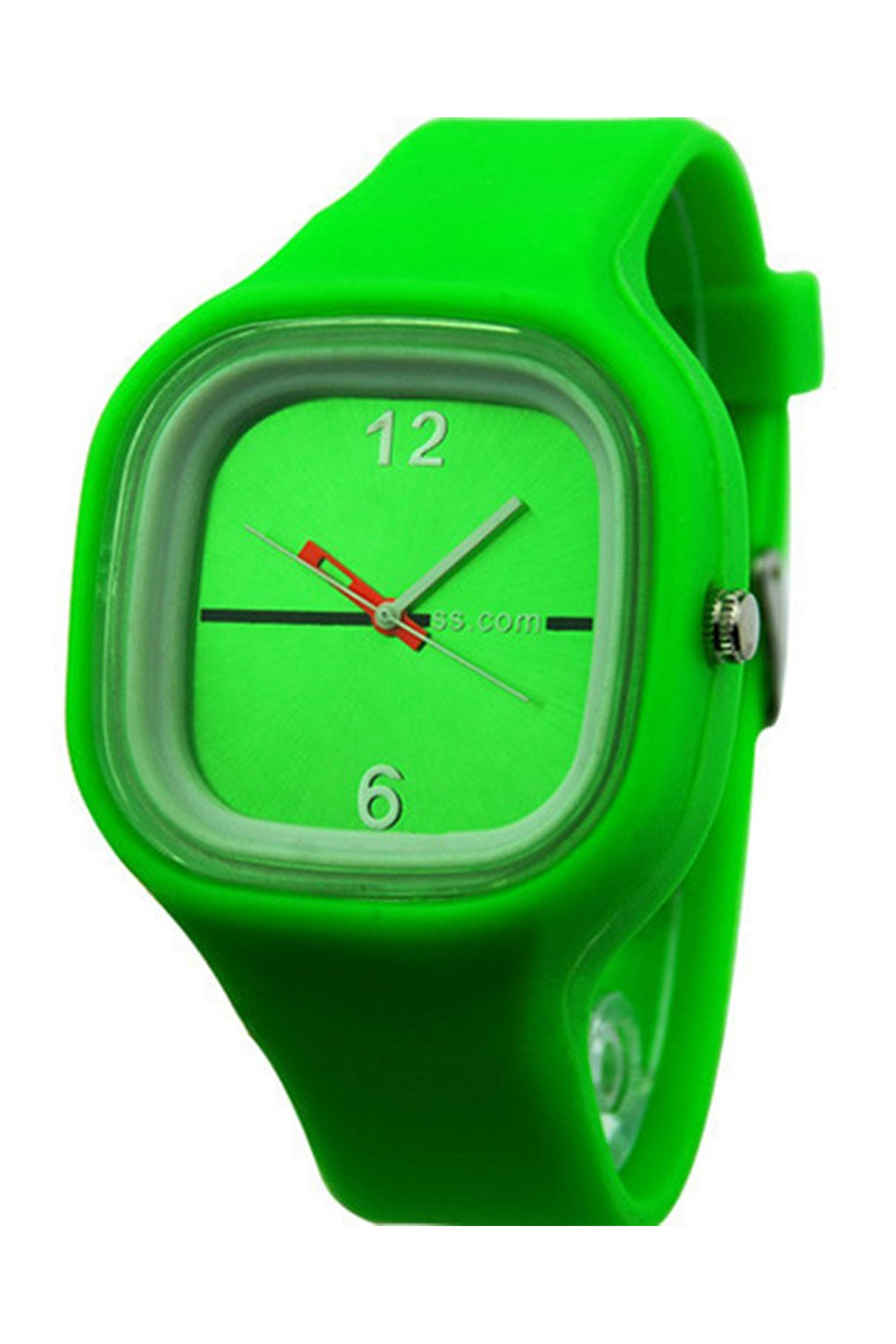 YCYS!Unisex Colorful Jelly Silicone Fashion Quartz Wrist Watch GreenYCYS!Unisex Colorful Jelly Silicone Fashion Quartz Wrist Watch Green