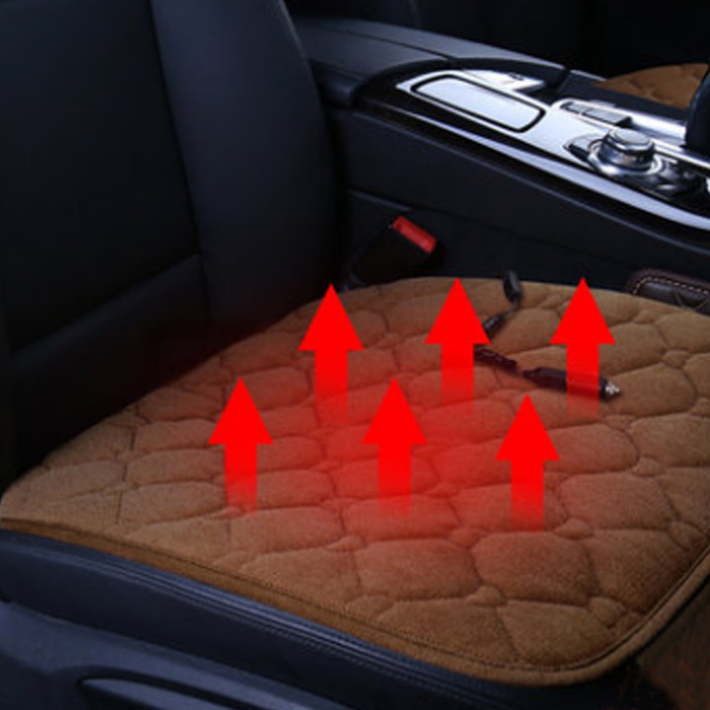 Auto 12V Universal Car Seat Heater Electric Heat Heating Pad Cushion Cover SeatCarbon Fiber Car Mat Rug Warm in Winter Travel 12v electric car heated seat cushion cover auto heating heater warmer pad winter car seat cover supplies hight quality