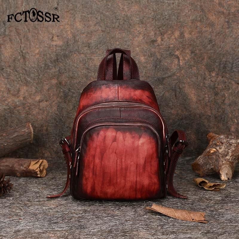 2019 популярный модный повседневный рюкзак для девочек подростков из натуральной кожи, винтажная Высококачественная женская сумка на плечо,
