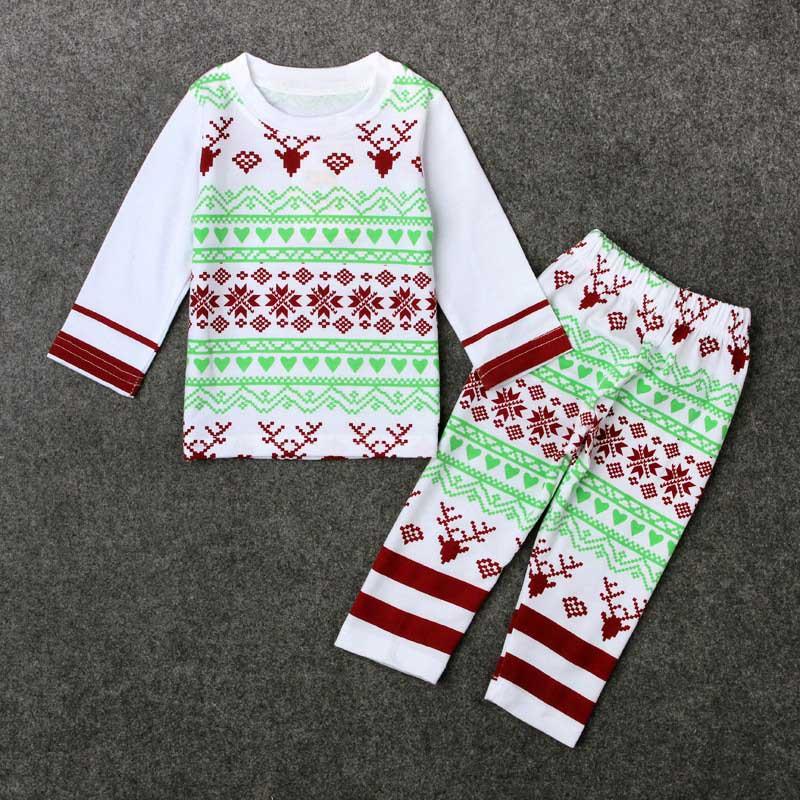 d20208716c50c New Christmas Kids Baby Girls Boys Reindeer Sleepwear Nightwear Pajamas  Pyjamas Set 0-24M