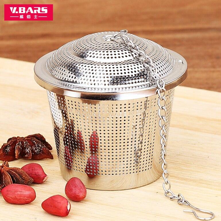 304 stainless steel ball seasoning seasoning bag gravy tea bag package leakage stew seasoning box Weibao tennis