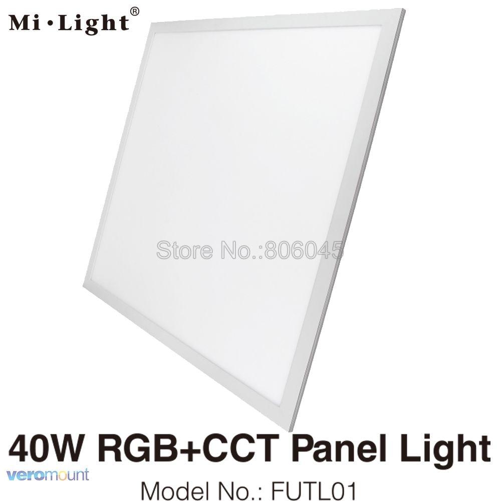 Milight 40W RGB+CCT LED Panel Light FUTL01 Support 2.4G Remote Control & Smartphone APP WiFi Control & Alexa Voice Control