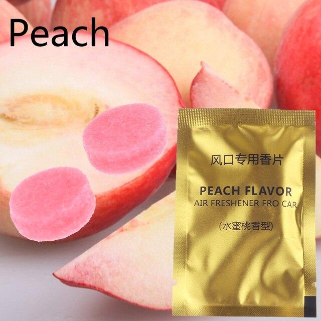 5 Packs Car Styling Air Freshener Aroma Solid Perfume Lemon Peach Ocean Lavender Cologne Flavoring Auto Interior Fragnace Sachet 2