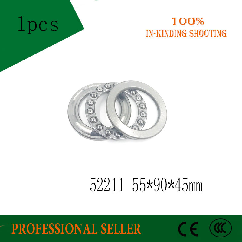 Free shipping 52211 (38211) 55x90x45mm Two-way plane thrust ball bearing 55*90*45MMFree shipping 52211 (38211) 55x90x45mm Two-way plane thrust ball bearing 55*90*45MM