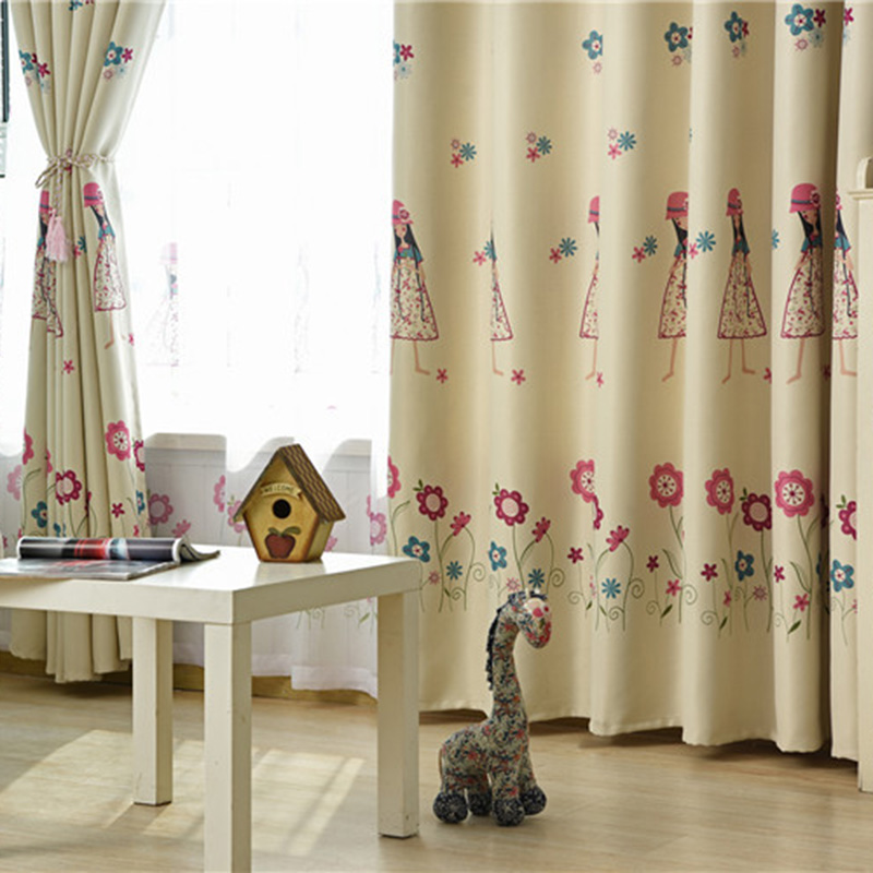 Children Room Curtain Small Beauty Cartoon Curtains For Girl Bedroom Semi Blackout Window Sheer Cute Princess Room Customed Curtains Aliexpress