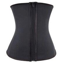 ווים ורוכסן גומי לטקס מותניים מאמן סקסי נשים הרזיה גוף ומעצב מחוכי Underbust מותן Cincher מחוך חולצות