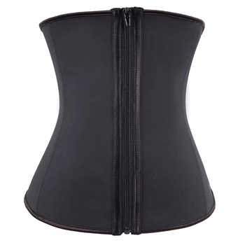 Hooks And Zipper Rubber Latex Waist Trainer Sexy Women Slimming Body Shaper Corsets Underbust Waist Cincher Corset Tops - DISCOUNT ITEM  15% OFF All Category