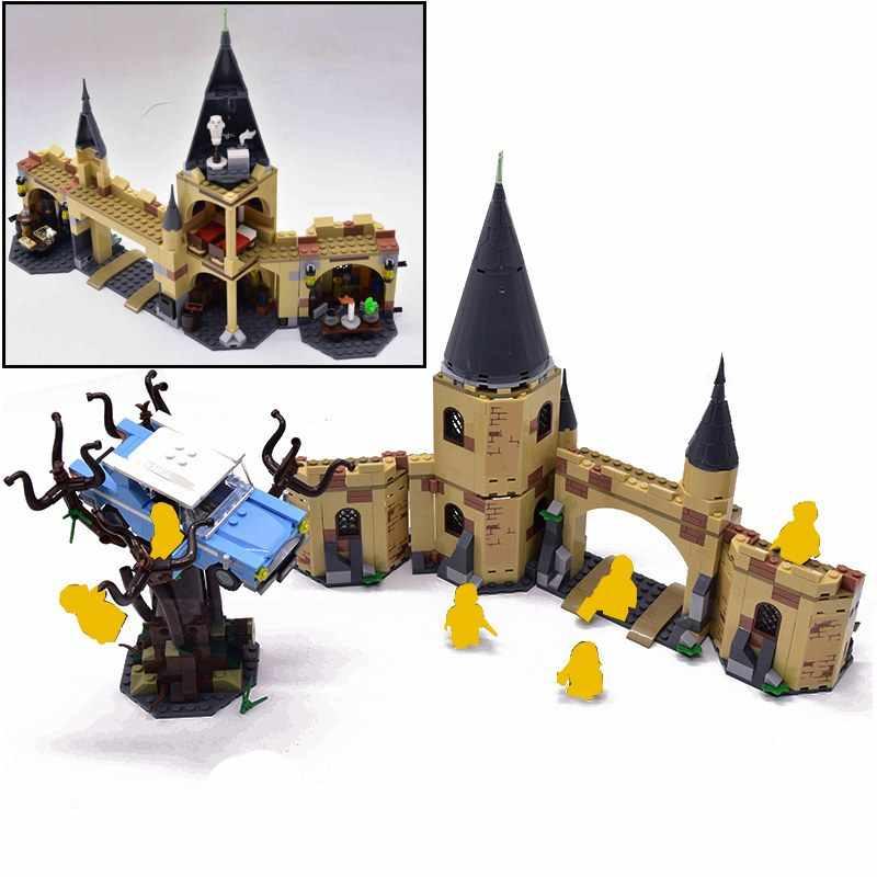 Harri movie 2 Castle Express Train Building Blocks House Bricks City Creator Action legoinglys potters Toys Figure For Children