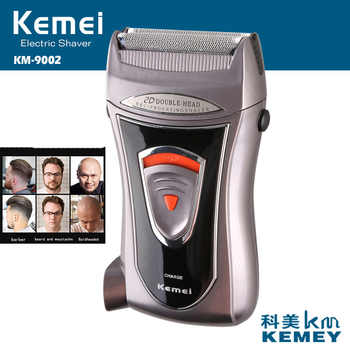 Kemei Built-in Charger Barber Electric Shaver for Men Two Mesh Portable Reciprocating Beard Razor Multifunction Strong Trimmer - DISCOUNT ITEM  36% OFF All Category