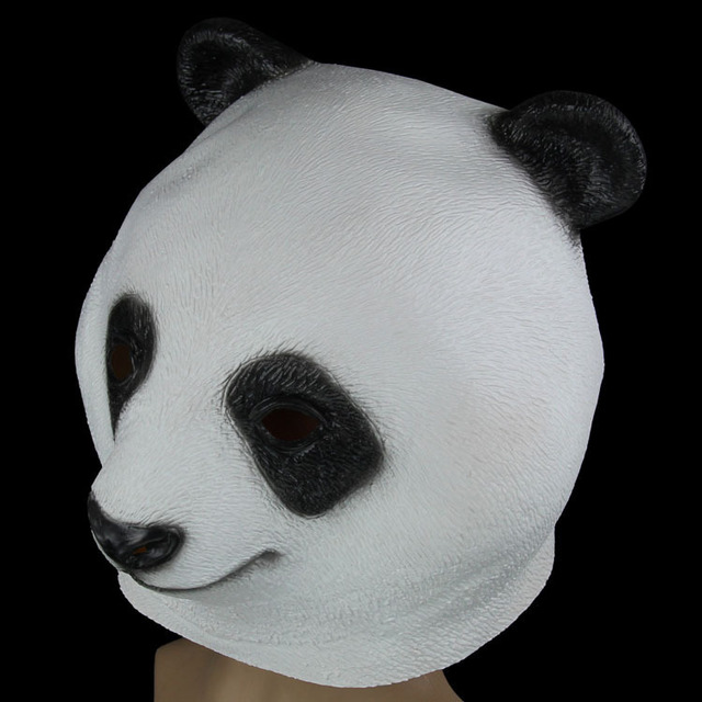 Party Decoration cosplay Adult Halloween party cosplay cartoon Kung Fu Panda Bao mask latex