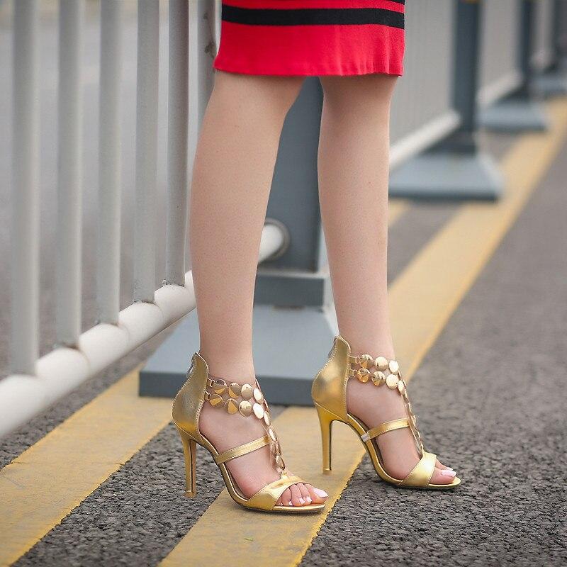 sandals heels red gold gladiator near