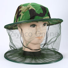 84c1df02a1a1a Mosquito Camo Midge Bug Fly Insect Bee Women Men Bucket Hat Fishing Camping  Field Jungle Face Protect Cap Mesh Cover Mask