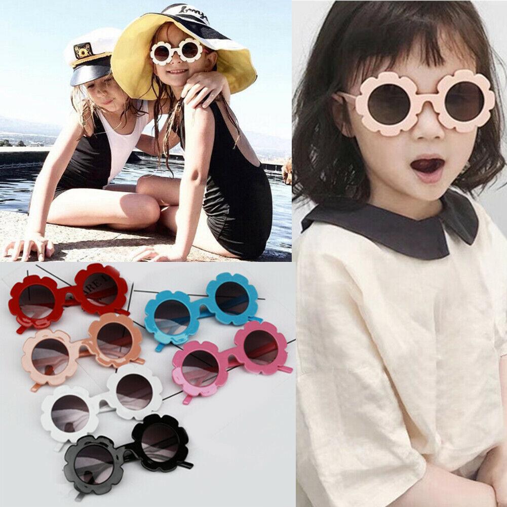 Hot Kids Baby Girl Cute Sun Flower Sunglasses For Children High-Quality Sun Flower Children Sunglasses UV400 Kids Accessories