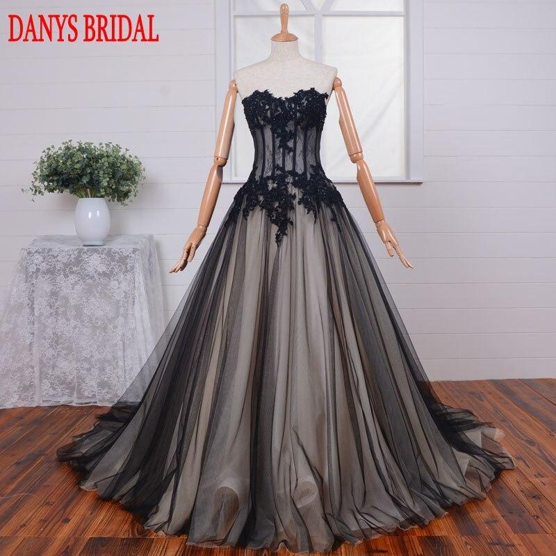 Robes de bal Sexy en dentelle noire longue robe de soirée en Tulle pour les robes de remise des diplômes