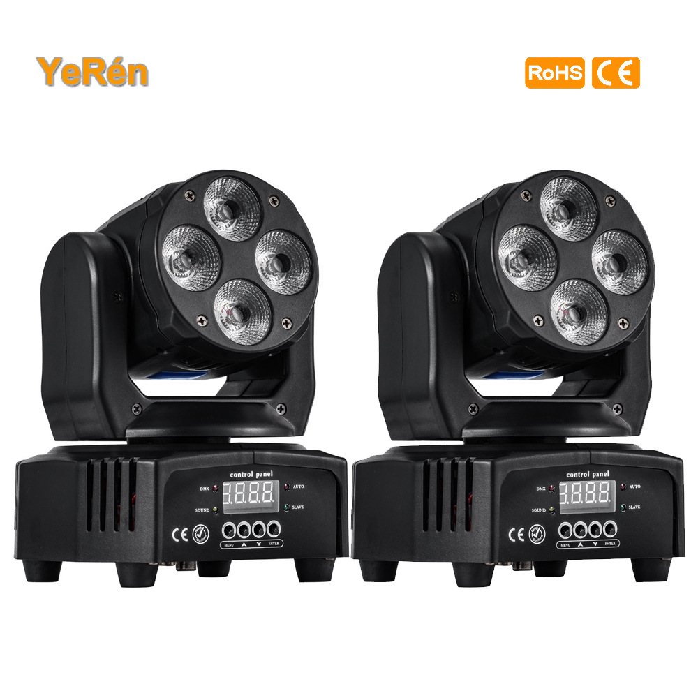 (2 pack) Mini Led moving head light wash effect light  stage lighting for party mobile DJ club