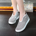 2016 Summer Women Flats Lace Canvas Casual shoes Woman Sandals loafers Comfortable thick bottom Footwear zapatos mujer