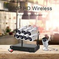 Hiseeu 1080P 8CH HD Wireless NVR Kit Outdoor IR Night Vision IP Camera 2MP CCTV System
