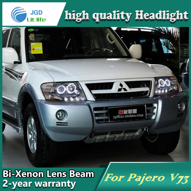 Car Styling Head Lamp case for Mitsubishi Pajero V73 Headlights LED Headlight DRL Lens Double Beam Bi-Xenon HID car Accessories yuzhe leather car seat cover for mitsubishi lancer outlander pajero eclipse zinger verada asx i200 car accessories styling