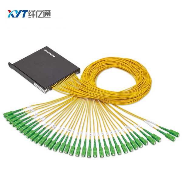 2X16 PLC Splitter ABS BOX Fiber Optic PLC Splitter SC UPC Connector Fiber Length 1m 3.0mm cable diameter