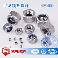 Factory Direct Sales Stainless Steel 304 DIN985 Nylon Lock Nuts 100pcs Lot