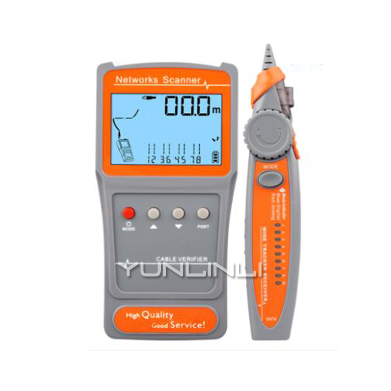 Multi-functional Network Cable Tester LCD Cable Length Tester Breakpoint Tester Cable Checker Telephone Checker PK652 noyafa nf 8601 multi functional network cable tester lcd cable length meter breakpoint tester rj45 telephone line checker eu